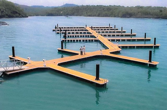 Floating Dock Anchoring Piles at Nasugbu, Batangas