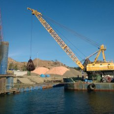 Dredging Works using Grab Dredger