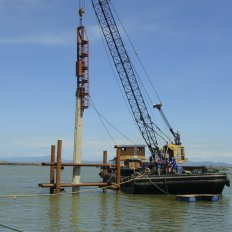 PSC Sheet Pile Driving